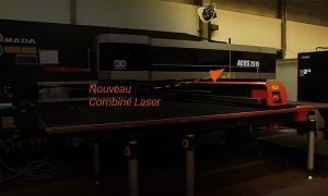 Laser cutting combined machine installation