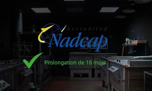 Renewal of NADCAP PT certification